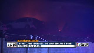 Cars burned during warehouse fire