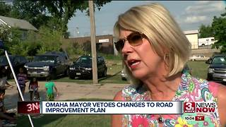 Mayor Jean Stothert vetos changes to roads improvement plan - Video
