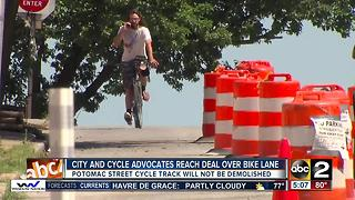 Baltimore City and BikeMore reach deal to keep bike lanes along Potomac Street - Video