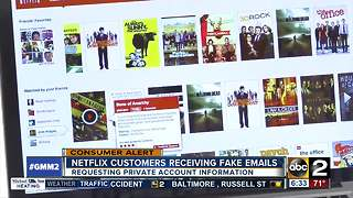 Scam alert: Customers receiving fake emails from Netflix - Video