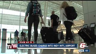 Electric shuttles coming to Indianapolis International Airport - Video