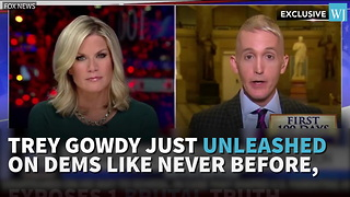 Trey Gowdy Just Unleashed On Dems Like Never Before - Video