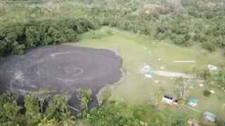 Drone Footage Captures Aftermath of Devil's Wood Yard Eruption in Caribbean - Video