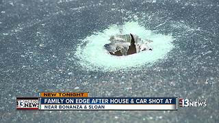 Family on edge after house and car shot at - Video