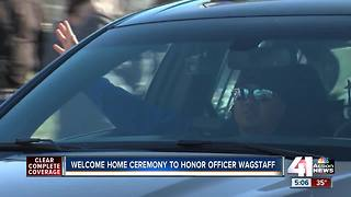 Officer Tom Wagstaff returns to Independence - Video