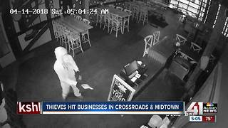 KCPD investigating overnight business break-ins - Video