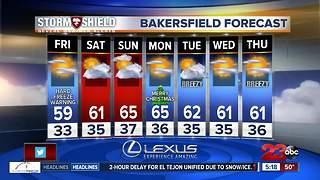 Freezing temperatures overnight and a warming trend this weekend - Video