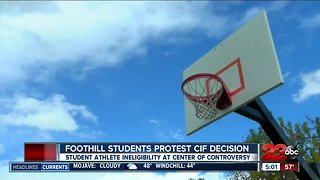 Foothill students protest CIF athlete ineligibility decision