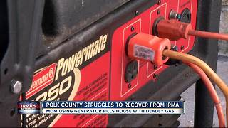 Lakeland girl, 7, dies from possible carbon monoxide poisoning from generator - Video