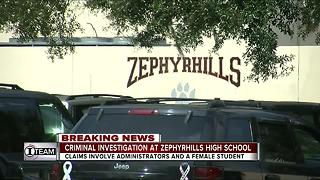 Criminal investigation of two employees underway at Zephyrhills High School - Video