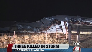 Alabama storm kills three - Video