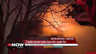 3 bodies found after house fire in Cleveland, authorities looking for fourth - Video
