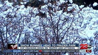 'Snow bunnies' head to Frazier Park, CHP cracking down - Video