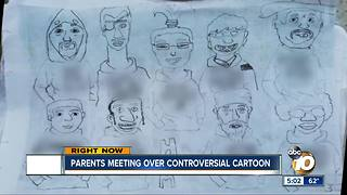 Parents meeting over controversial cartoon - Video
