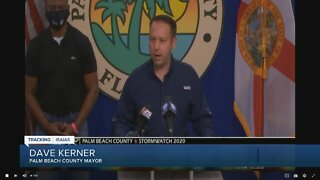 Palm Beach County Mayor Dave Kerner speaks about Tropical Storm Isaias