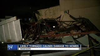 Possible tornado leaves trail of damage in Madison area - Video