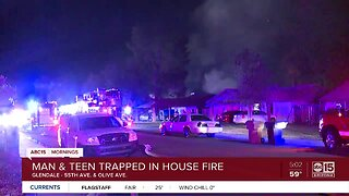 Two victims pulled from Glendale house fire