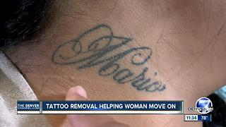 tattoo removal helps domestic violence victim move on - Video