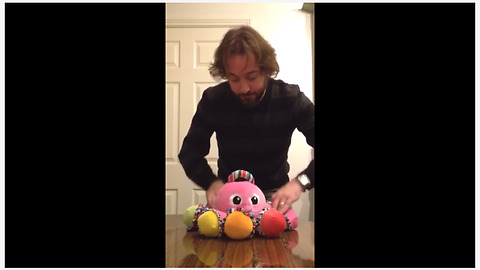 Talented Man Plays Classic Club Song On Honking Toy Octopus