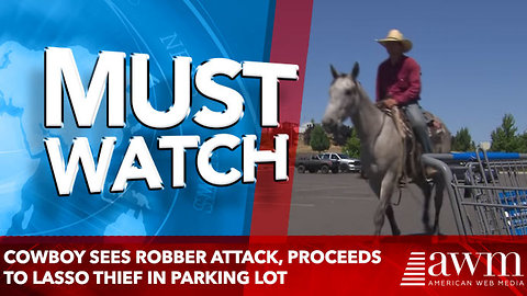 Cowboy Hears Woman Screaming As Robber Attacks, Proceeds To Lasso Thief In Parking Lot