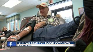 Red Cross says need for blood donors is critical - Video