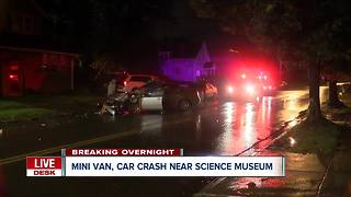 Police investigating overnight car crash near Science Museum - Video