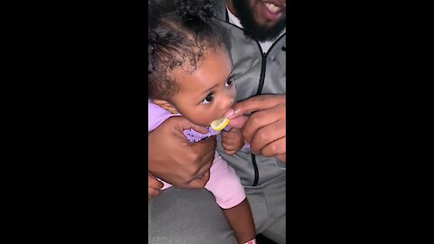 Toddler Adorably Can't Get Enough of Tasty Lemon