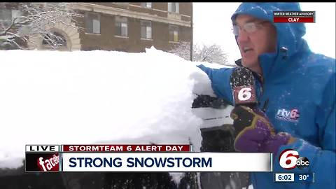 It's not unprecedented for central Indiana to have heavy snow in March