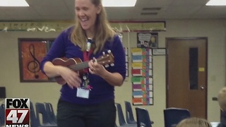 Local teacher wins Excellence in Education award. - Video