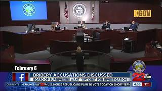 Bribery accusations discussed during board of supervisors meeting - Video