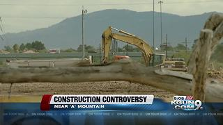 Dust up over construction near historic site - Video