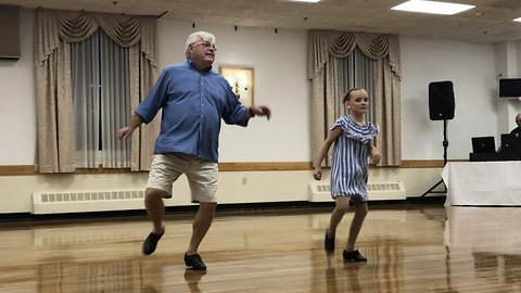 Tap off the ol' block: 10-year-old girl asked her 72-year-old grandfather to be her tap partner – and the outcome is adorable