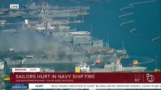 Sailors hurt in Naval Base San Diego ship fire