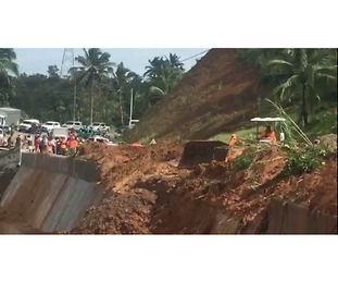 Tropical Storm Kai-tak Sparks Landslide in Leyte - Video