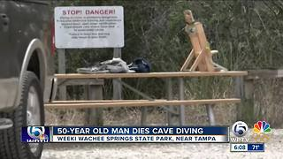Man dies while cave diving near Tampa - Video