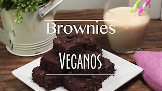 Vegan Brownies with Double Chocolate