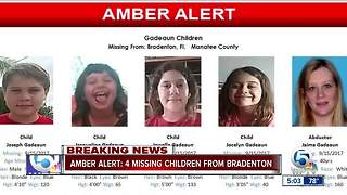 Amber Alert issued for 4 missing Florida children - Video