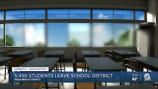 Thousands of Palm Beach County students leave district
