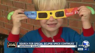 Search for solar eclipse specs heads to Arapahoe County libraries - Video