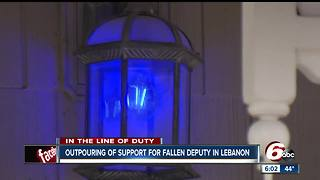 Blue line shines across Boone County in honor of fallen deputy Jacob Pickett - Video