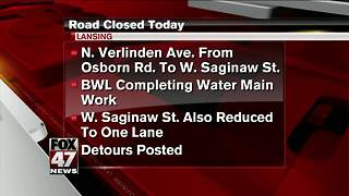 BWL closes roads to complete water main work - Video