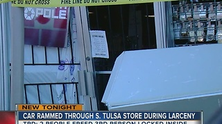 TPD: Shoplifting suspects ram car into store - Video