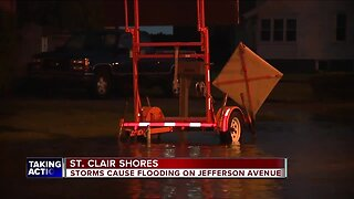 Heavy storms cause flooding trouble in St. Clair Shores