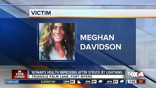 Woman and newborn's health improving after she was struck by lightning  while 9 months pregnant - Video