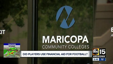 Did JC football players use financial aid to play in a new league?