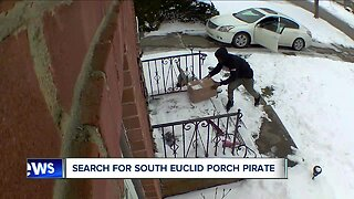 South Euclid police searching for 'porch pirate' caught on camera at 2 different homes