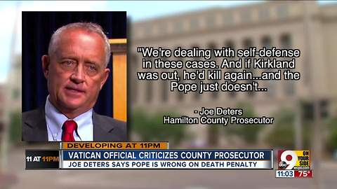 Deters to angry Vatican official: God bless you