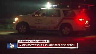 Man's body washes ashore in Pacific Beach