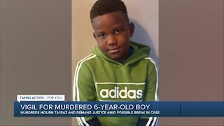 Candlelight vigil held for murdered 6-year-old boy
