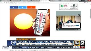 Cooling centers open to help Marylanders cool off - Video